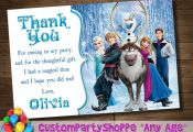 FROZEN Printable THANK YOU card Custom by PinkFrostingPaperie, $4.99