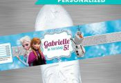 FROZEN Water Bottle Label, Frozen Party Package, Frozen Printable Label, Frozen ...