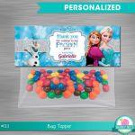 FROZEN bag topper, Frozen Party Package,  Frozen Printable Bag Topper, Frozen DI...
