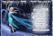 FROZEN invitation, frozen birthday invitation, frozen invitation, Elsa Invitatio...