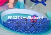 FROZEN waffle party on the blog today! Come see all the details and download the...