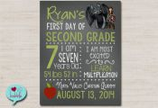 First Day Last Day of School, Back to School, Chalkboard Photo Picture Sign Froz...