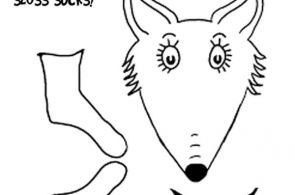 Fox in Socks by Dr Seuss Coloring Pages Bag DIY printable