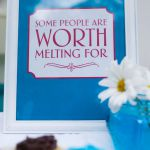 Framed cute sayings from the Frozen movie.  Frames from the dollar store, spray ...