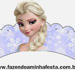 Free Elsa Cupcake Wrapper Printable for a Frozen birthday party