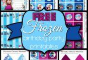 Free Frozen Birthday Party Printable Kit - •Invitations •Cupcake/Treat Toppe...