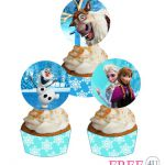 Free Frozen Cupcake toppers and wrappers  #frozen #party #free #printable #print...