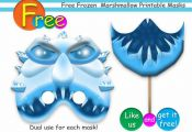Free Frozen Marshmallow Printable Masksparty от HolidayPartyHall, $4.50