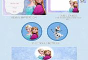 Free Frozen Party Printables. Includes: Frozen Party Invitation Card Frozen Cupc...