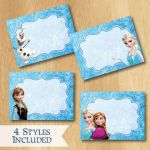 Free Frozen Printables Food Labels Disney Frozen Food Labels