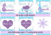 Free Frozen Printables- Frozen theme party decorations Frosted Events www.froste...