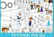 Free Frozen packs for toddler, preschool, kindergarten, first, second, and third...