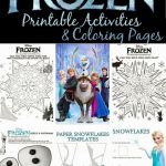 Free Frozen printable coloring pages