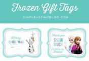 Free Printable Disney Frozen Gift Tags - simple as that