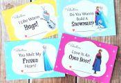 Free Printable Disney Frozen Valentines Cards