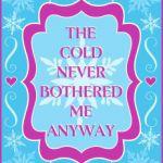 Free Printable Frozen Elsa Sign!
