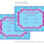 Free Printable Frozen Invitations  | CatchMyParty.com