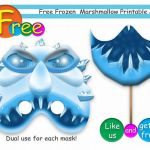 Free Unique Frozen Marshmallow Printable Masks,party masks,birthday,invitation,A...