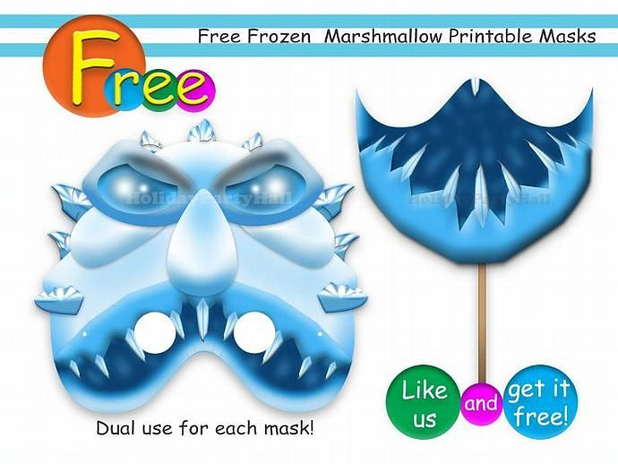 Free-Unique-Frozen-Marshmallow-Printable-Masksparty-masksbirthdayinvitationA Free Unique Frozen Marshmallow Printable Masks,party masks,birthday,invitation,A... Cartoon