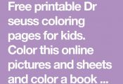 Free printable Dr seuss coloring pages for kids. Color this online pictures and ...