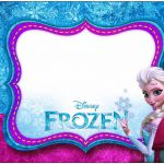 Frozen Azul y Púrpura: Etiquetas para Imprimir Gratis.