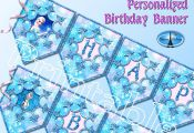 Frozen Banner. Frozen Birthday Banner.. Printable Frozen Banner. Personalized Fr...