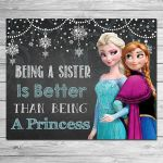 Frozen Being a Sister Sign Chalkboard Elsa // by ItsACowsOpinion