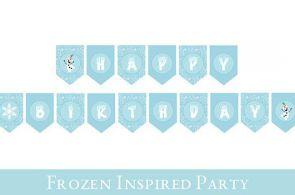 Frozen Birthday Banner // Frozen Banner // PRINTABLE BIRTHDAY BANNER // Frozen P...