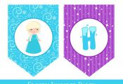 Frozen Birthday Banner, Frozen Inspired Banner, PRINTABLE BIRTHDAY BANNER, Froze...