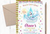 Frozen Birthday Invitation, Frozen Birthday Party Invitations, Elsa Invitations,...