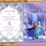 Frozen Birthday Invitation Frozen Birthday party Frozen Invite Frozen ice skatin...