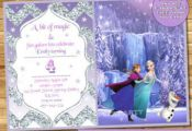 Frozen Birthday Invitation Frozen Birthday party Frozen Invite Frozen ice skatin...