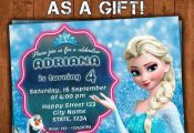 Frozen Birthday Invitation, Frozen Invitation, Frozen Party Invitation, Frozen C...