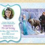 Frozen Birthday Invitation, Frozen Movie, Winter birthday invite, Christmas Phot...