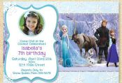 Frozen Birthday Invitation, Frozen Movie, Winter birthday invite, Christmas Phot...