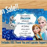 Frozen Birthday Invitation Frozen Party by MyBabiesBreath on Etsy