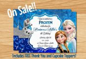 Frozen Birthday Invitation Frozen Party by MyBabiesBreath on Etsy