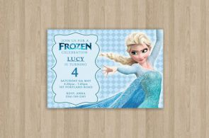 Frozen Birthday Invitation  Printable  Custom by CeMariePrints