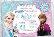 Frozen Birthday Invitation Printable, Frozen Invitation, Frozen Birthday Party I...