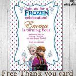 Frozen Birthday Invitation Printable Frozen by YourMainEventPrints