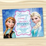 Frozen Birthday Invitation. Frozen Invitation. Diy Frozen Birthday Party. Frozen...