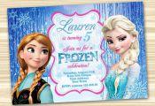 Frozen Birthday Invitation. Frozen Invitation. Diy Frozen Birthday Party. Frozen...