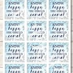 Frozen Birthday Party Gift Tags, Chic Classy Elegant Frozen Printable, Winter Wo...