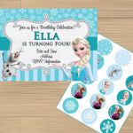 Frozen Birthday Party Invitations & FREE Cupcake by JessiesLetters, $11.00