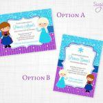 Frozen Birthday Printable Mini Set, Frozen Printable Set - Frozen Party - Invita...