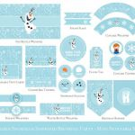 Frozen Birthday Printable Set, Olaf birthday Party decorations, Olaf Party print...