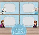 Frozen Birthday Themed Childrens Party - Food Labels - Organized - Food Tents - ...