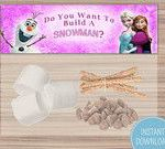 Frozen Birthday Themed Childrens Party - Party Bag Toppers - Organized - Food Ba...