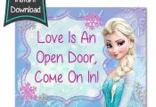 Frozen Birthday sign – Frozen printables – 8×10 printables – DIY – digi...