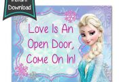 Frozen Birthday sign - Frozen printables - 8x10 printables - DIY - digital file